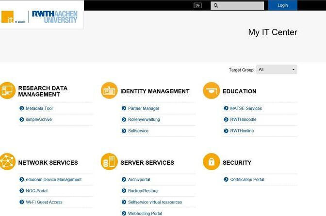 Screenshot of My IT Center-Portal